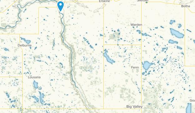 Nevis, Alberta Map