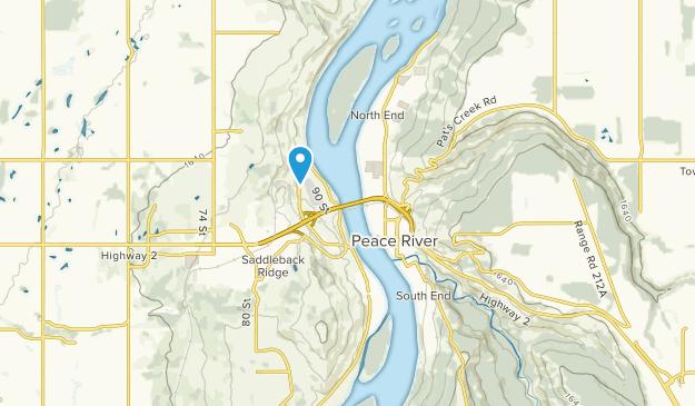 Peace River, Alberta Map