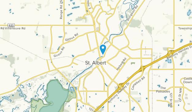 Saint Albert, Alberta Map
