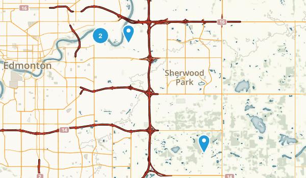 Sherwood Park, Alberta Map