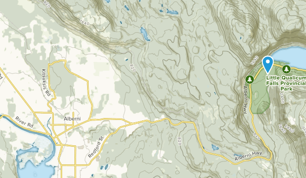 Ahahswinis 1, British Columbia Map