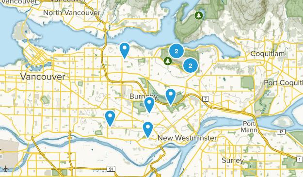 Burnaby, British Columbia Map