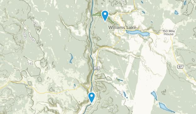 Cariboo, British Columbia Map
