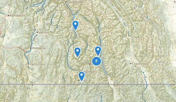 Central Kootenay, British Columbia Map