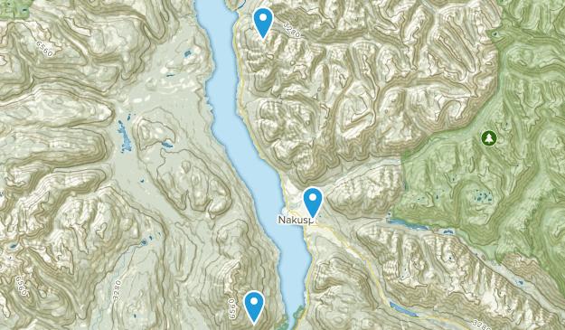 Central Kootenay K, British Columbia Map