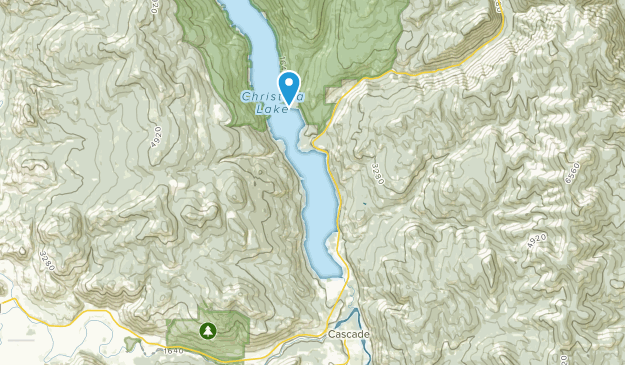 Christina Lake, British Columbia Map