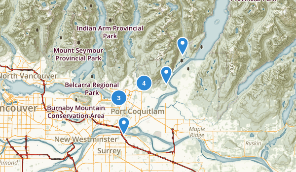 Coquitlam, British Columbia Map