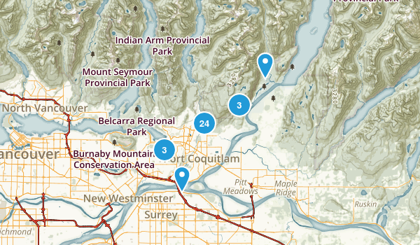Coquitlam, British Columbia Map