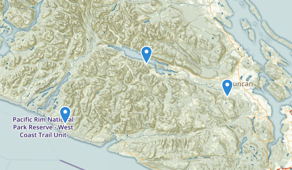 Cowichan Valley, British Columbia Map