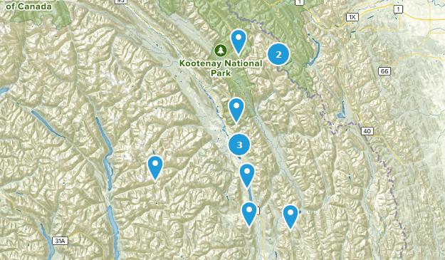East Kootenay F, British Columbia Map