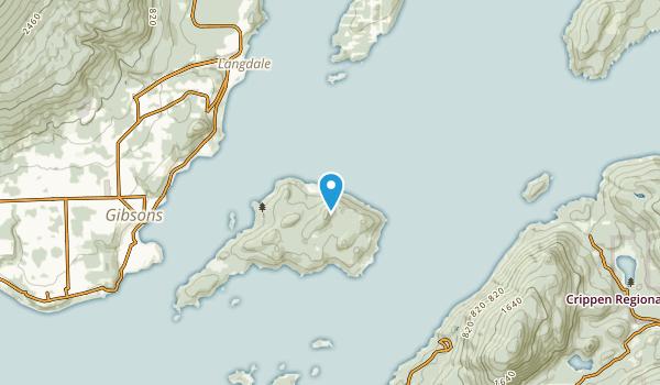 Eastbourne, British Columbia Map