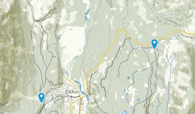 Elkford, British Columbia Map