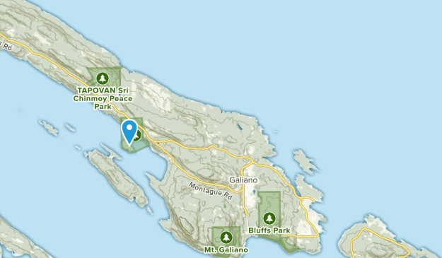 Galiano, British Columbia Map