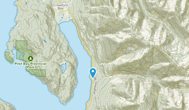 Gray Creek, British Columbia Map