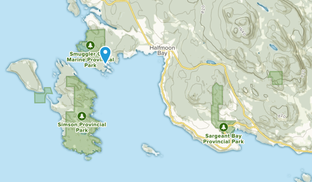 Halfmoon Bay, British Columbia Map