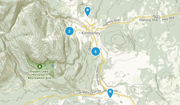Kimberley, British Columbia Map