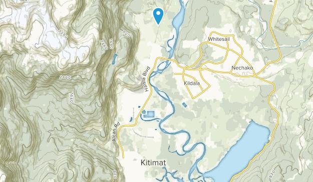 Kitimat, British Columbia Map