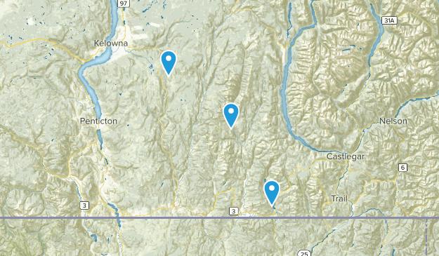 Kootenay Boundary, British Columbia Map