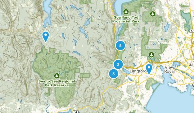 Langford, British Columbia Map