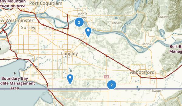 Langley Twp, British Columbia Map