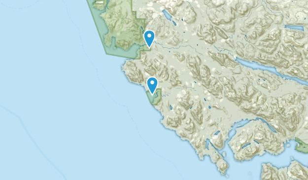 Mount Waddington B, British Columbia Map