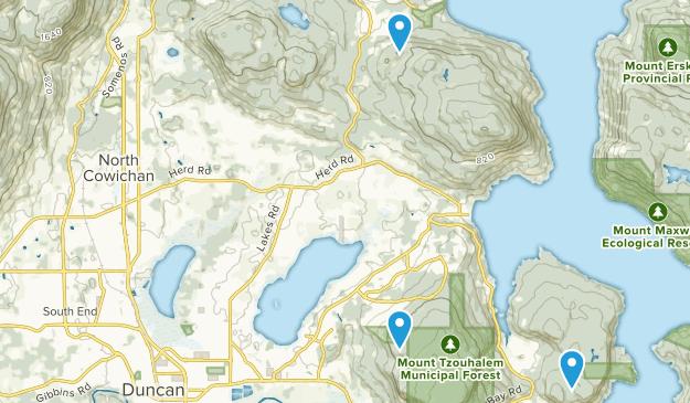North Cowichan, British Columbia Map