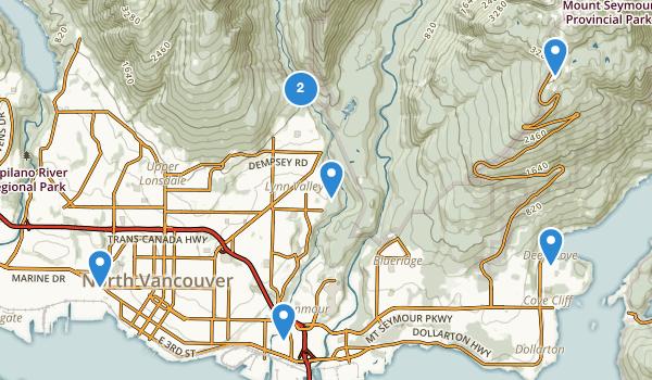 North Vancouver, British Columbia Map