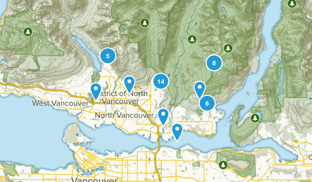 North Vancouver District, British Columbia Map