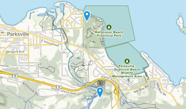 Parksville, British Columbia Map