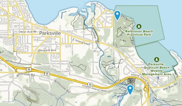 Parksville, British Columbia Map