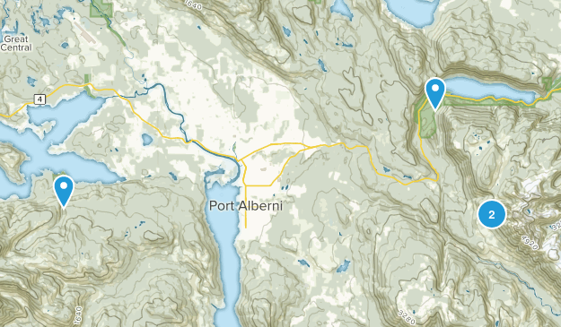Port Alberni, British Columbia Map
