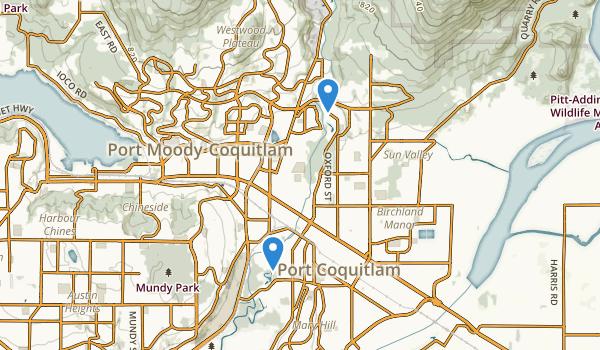 Port Coquitlam, British Columbia Map