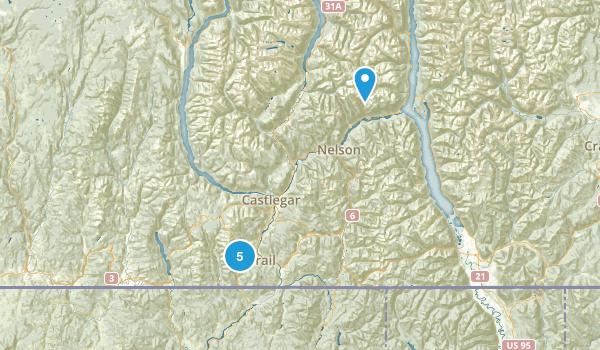 Rossland, British Columbia Map