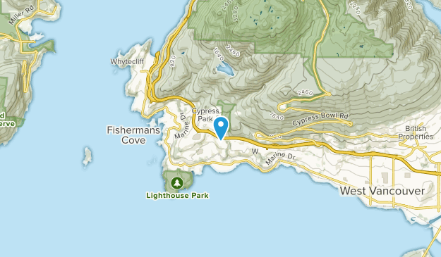 Sandy Cove, British Columbia Map