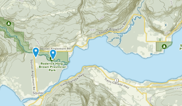 Scotch Creek, British Columbia Map