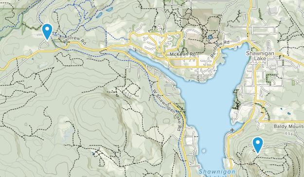 Shawnigan Lake, British Columbia Map
