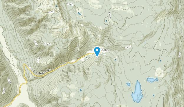Sun Peaks Mountain, British Columbia Map
