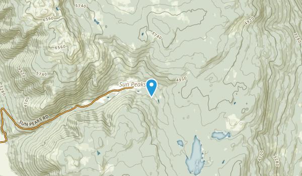 Sun Peaks Mountain Resort, British Columbia Map