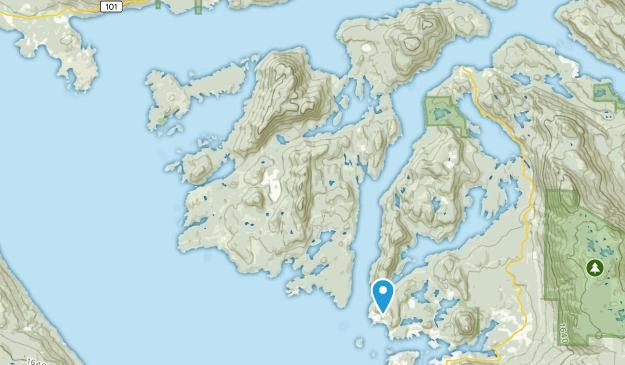 Sunshine Coast A, British Columbia Map