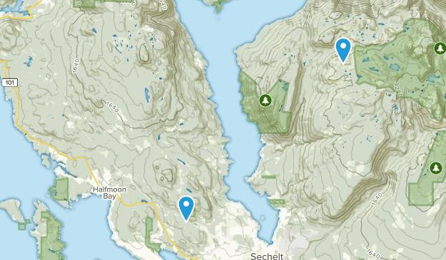 Sunshine Coast B, British Columbia Map