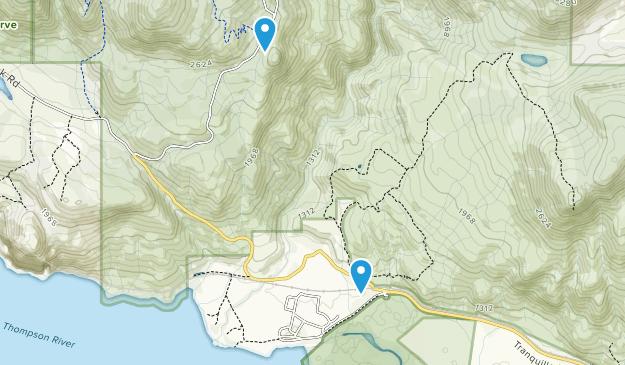 Tranquille, British Columbia Map
