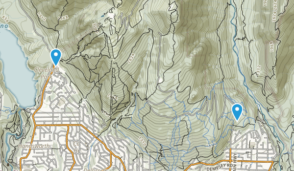 Upper Lynn, British Columbia Map
