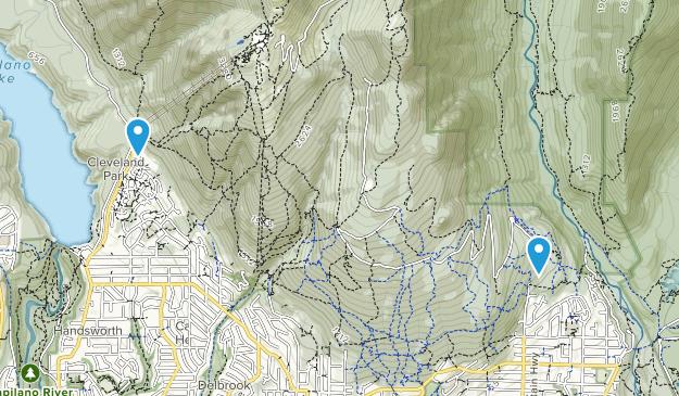 Upper Lynn, British Columbia Map