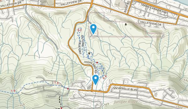 Valleyview, British Columbia Map