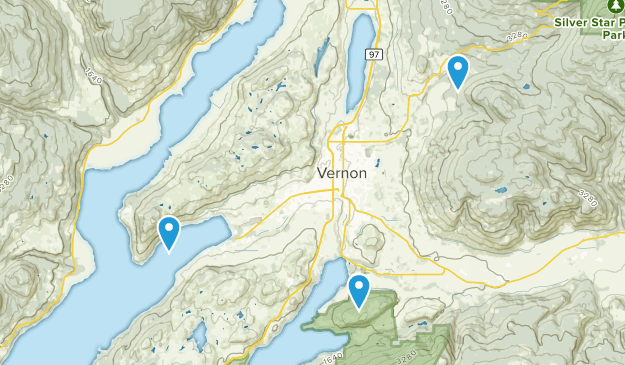 Vernon, British Columbia Map