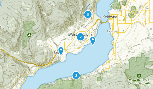 West Kelowna, British Columbia Map