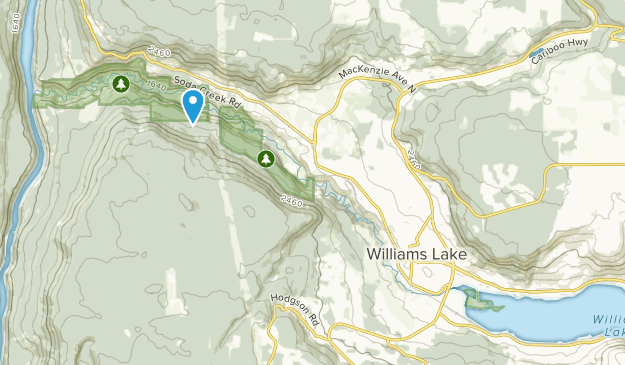 Williams Lake, British Columbia Map
