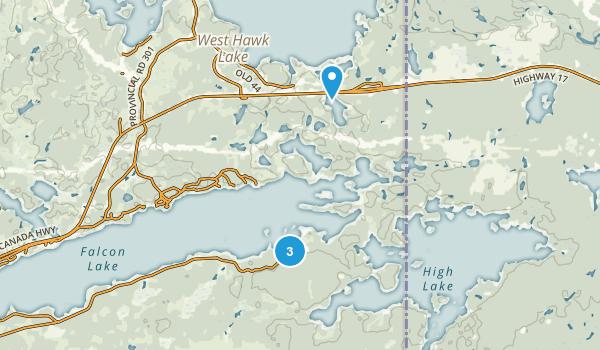 Whiteshell, Manitoba Map