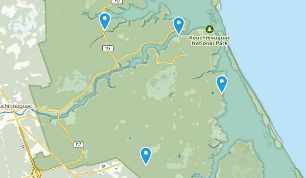 Kouchibouguac National Park, New Brunswick Map