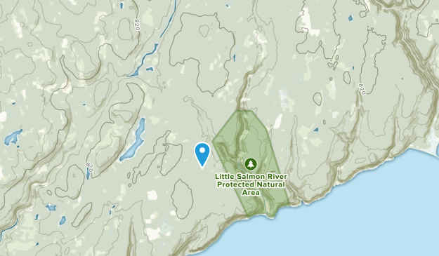 Little Salmon River West, New Brunswick Map